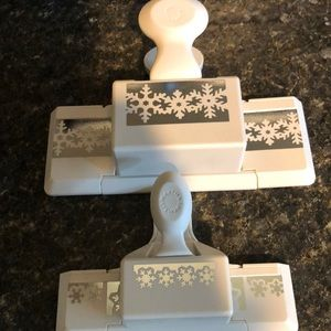 Set of 2 Christmas border punches